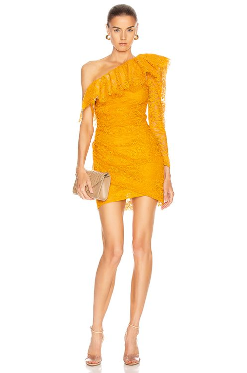 Dundas Lace One Shoulder Mini Dress