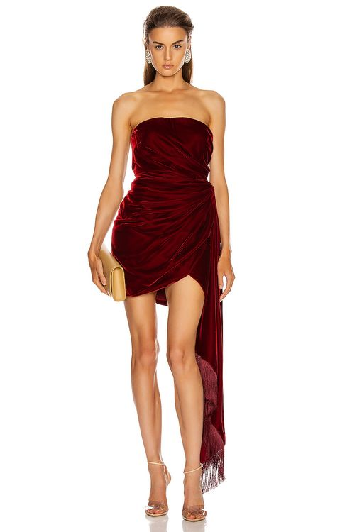 Oscar de la Renta Strapless Cocktail Dress