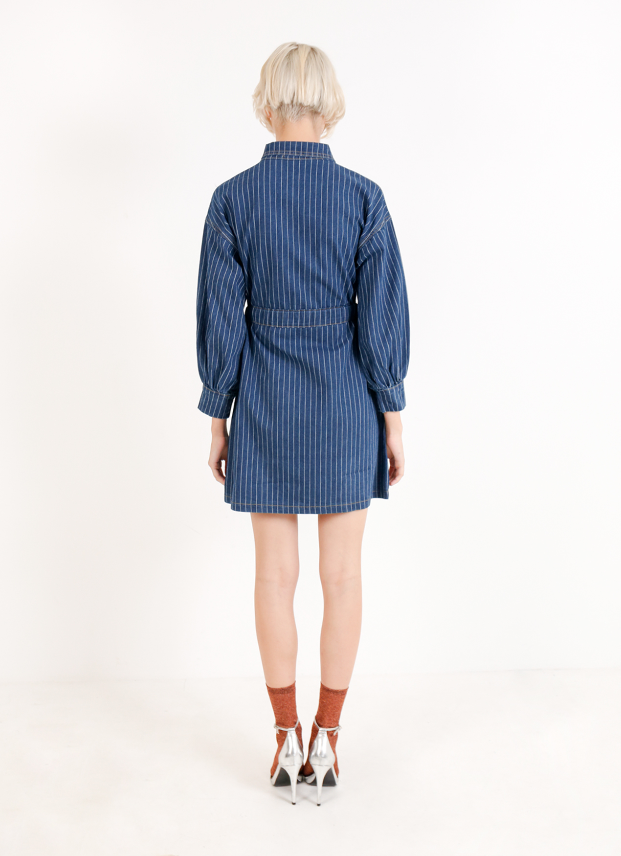 BOWN Dorota Dress - Deep blue