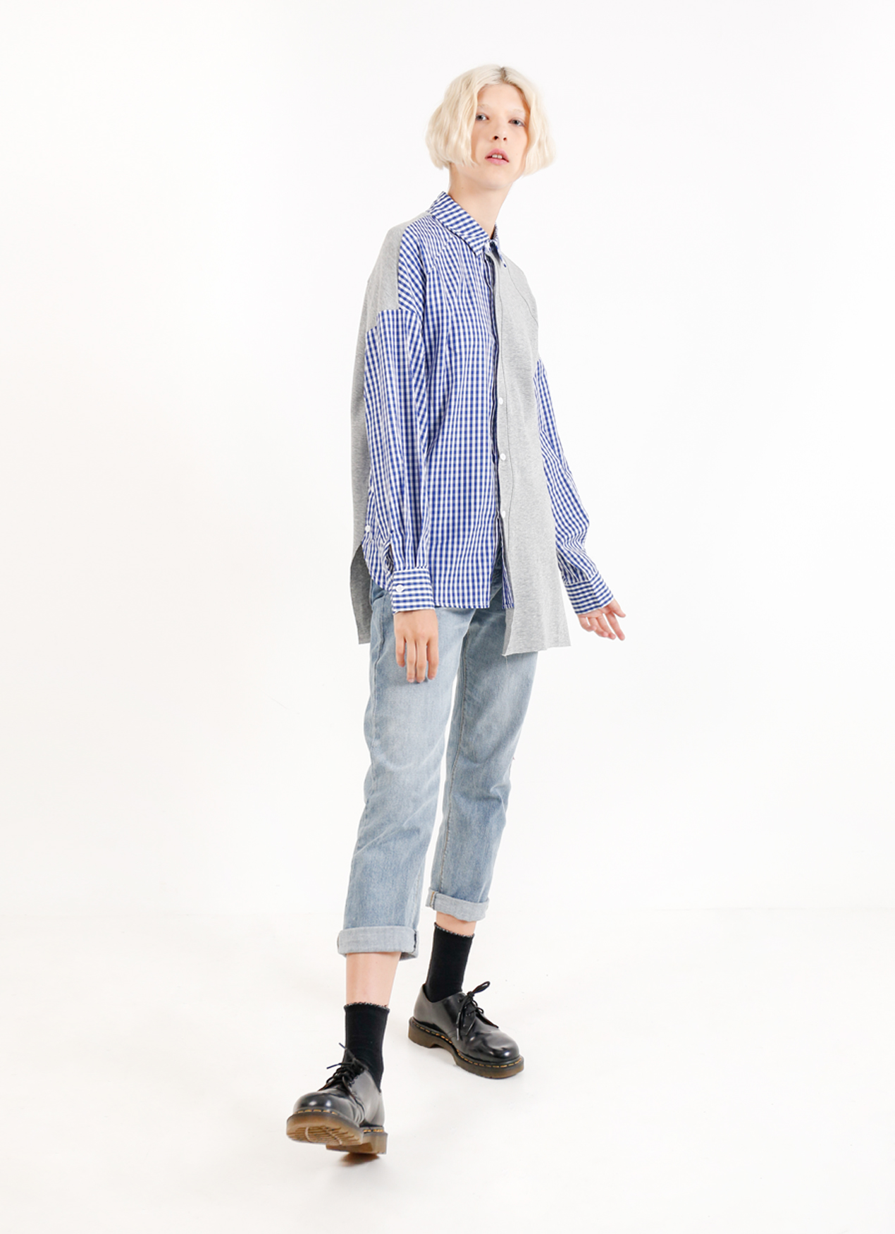BOWN Michelle Shirt - Gray Blue