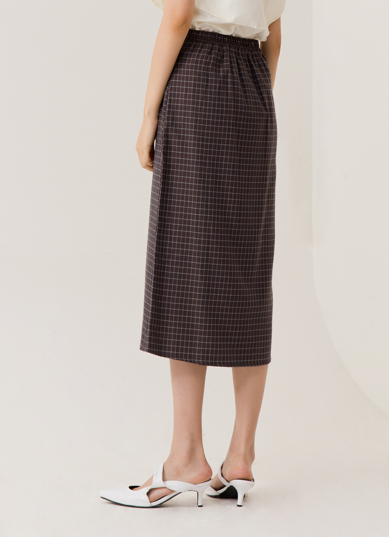 ATS THE LABEL Business Skirt - Plaid