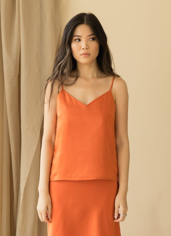 ATS THE LABEL Classic Pumpkin Top - Pumpkin
