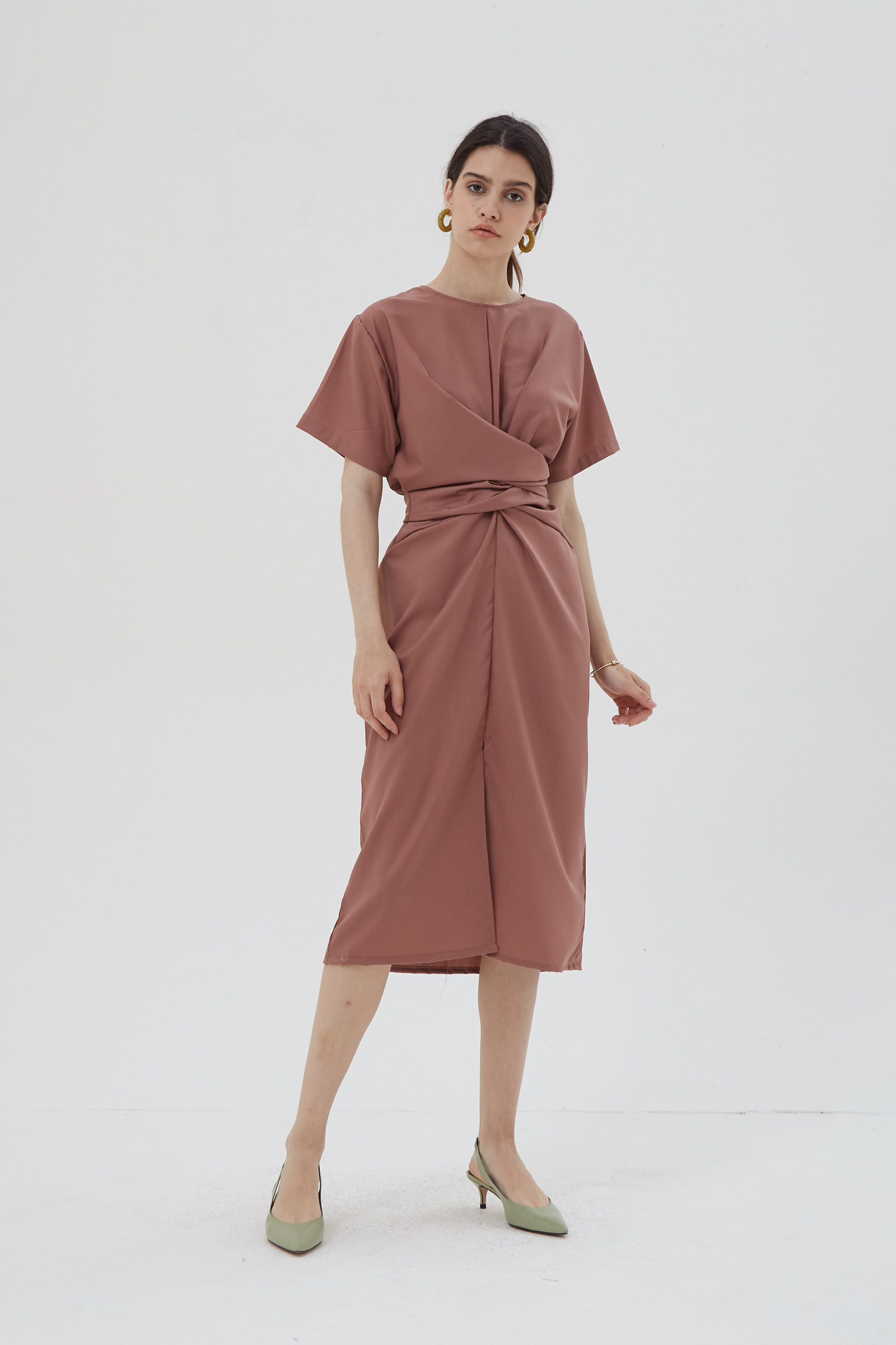 Shopatvelvet Gaspar Dress Mauve
