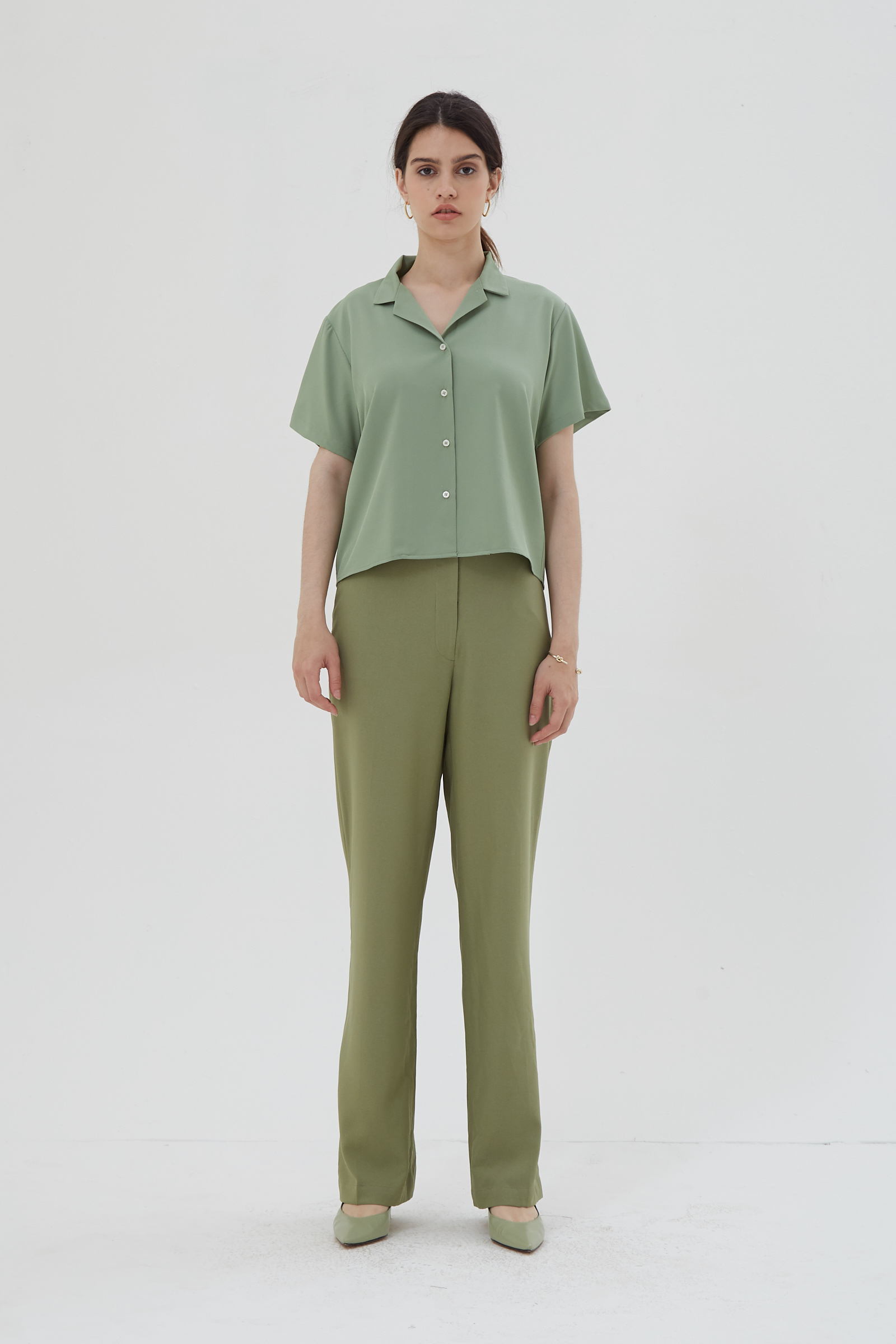 Shopatvelvet Light Shirt Green