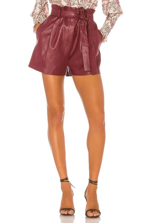 BCBGMAXAZRIA Faux Leather Shorts