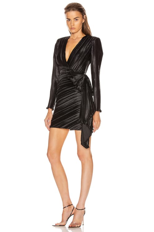 Givenchy Pleated Bow Wrap Dress