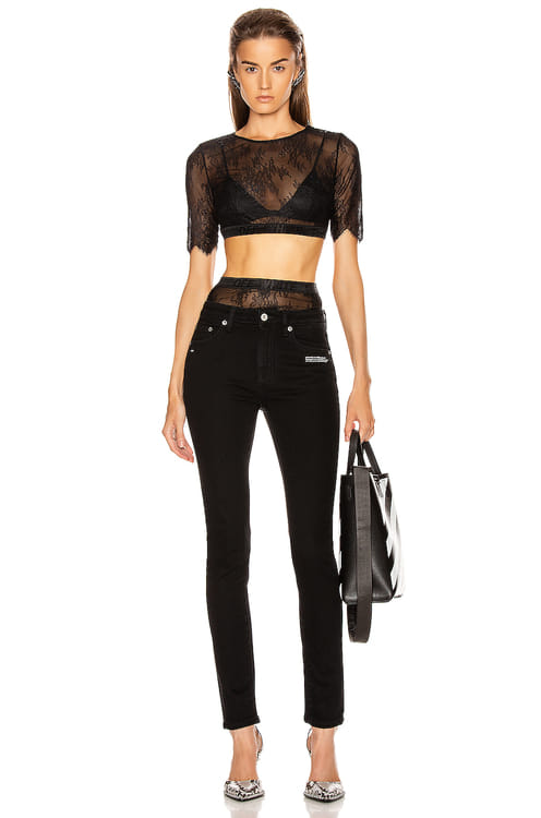 Off-White Lace Cropped Set