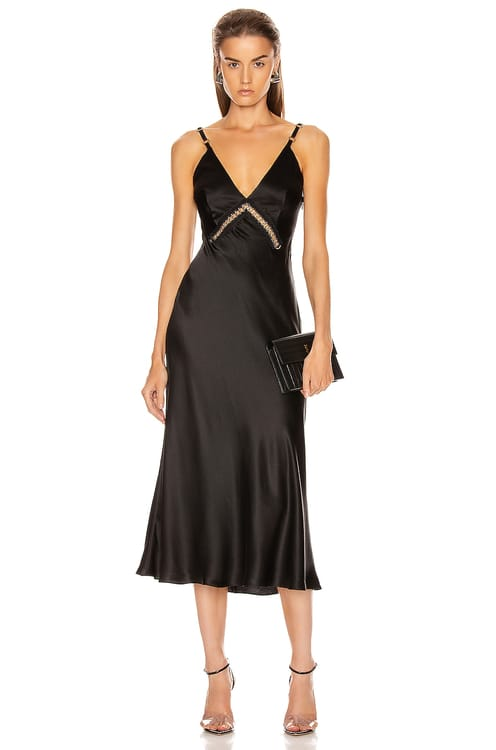 Alberta Ferretti Slip Midi Dress
