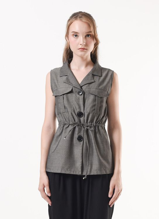 Story of Rivhone Alea Outer Top - Gray