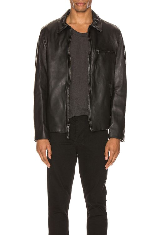 Schott Collar Lamb Leather Jacket