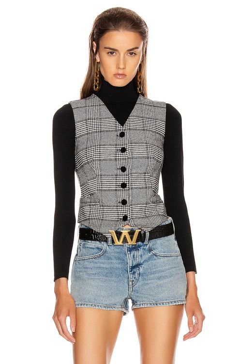 Dolce & Gabbana Check Vest Top