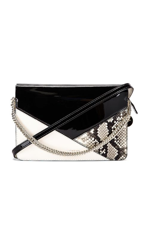 Givenchy Flat Mixed Leather Cross Bag