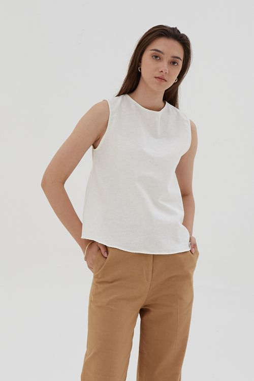 Shopatvelvet Core Tank White