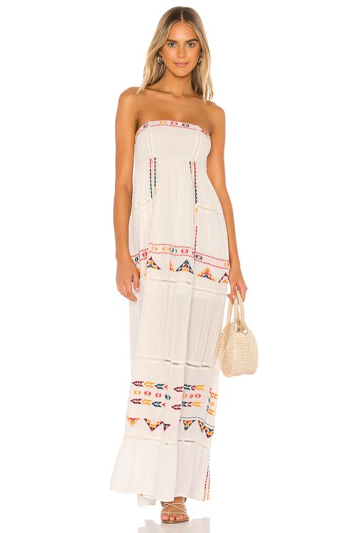 TULAROSA Felicity Embroidered Dress