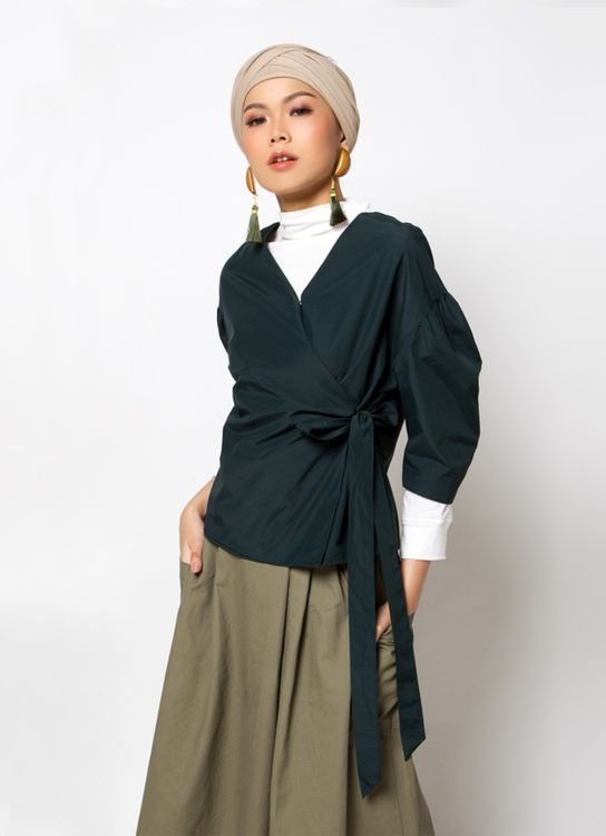 Sayee Hanbok Blouse - Green