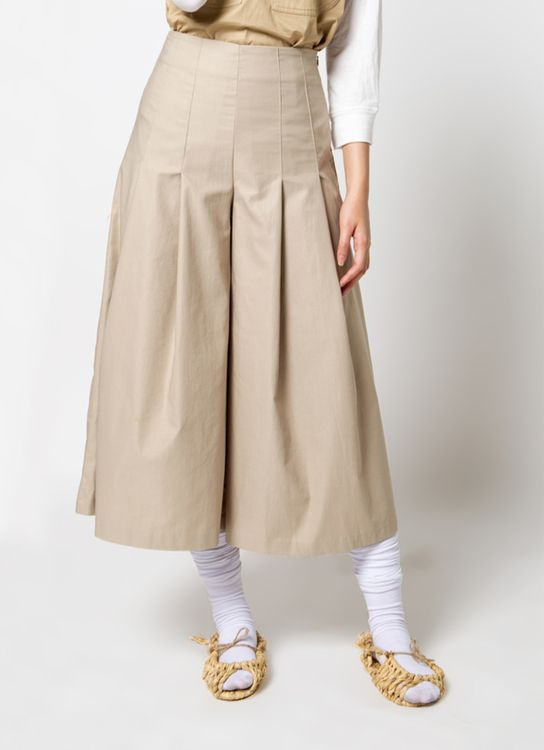 Sayee Flare pleated pants - Beige