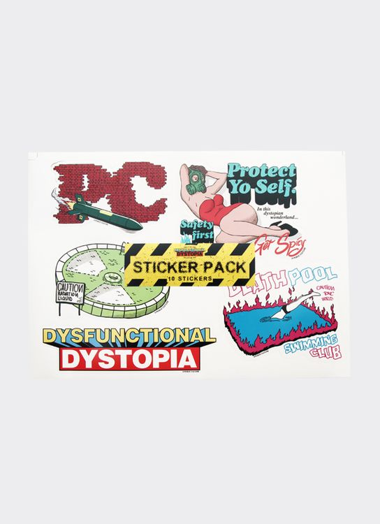Public Culture Dysfunctional Dystopia Stickers - White