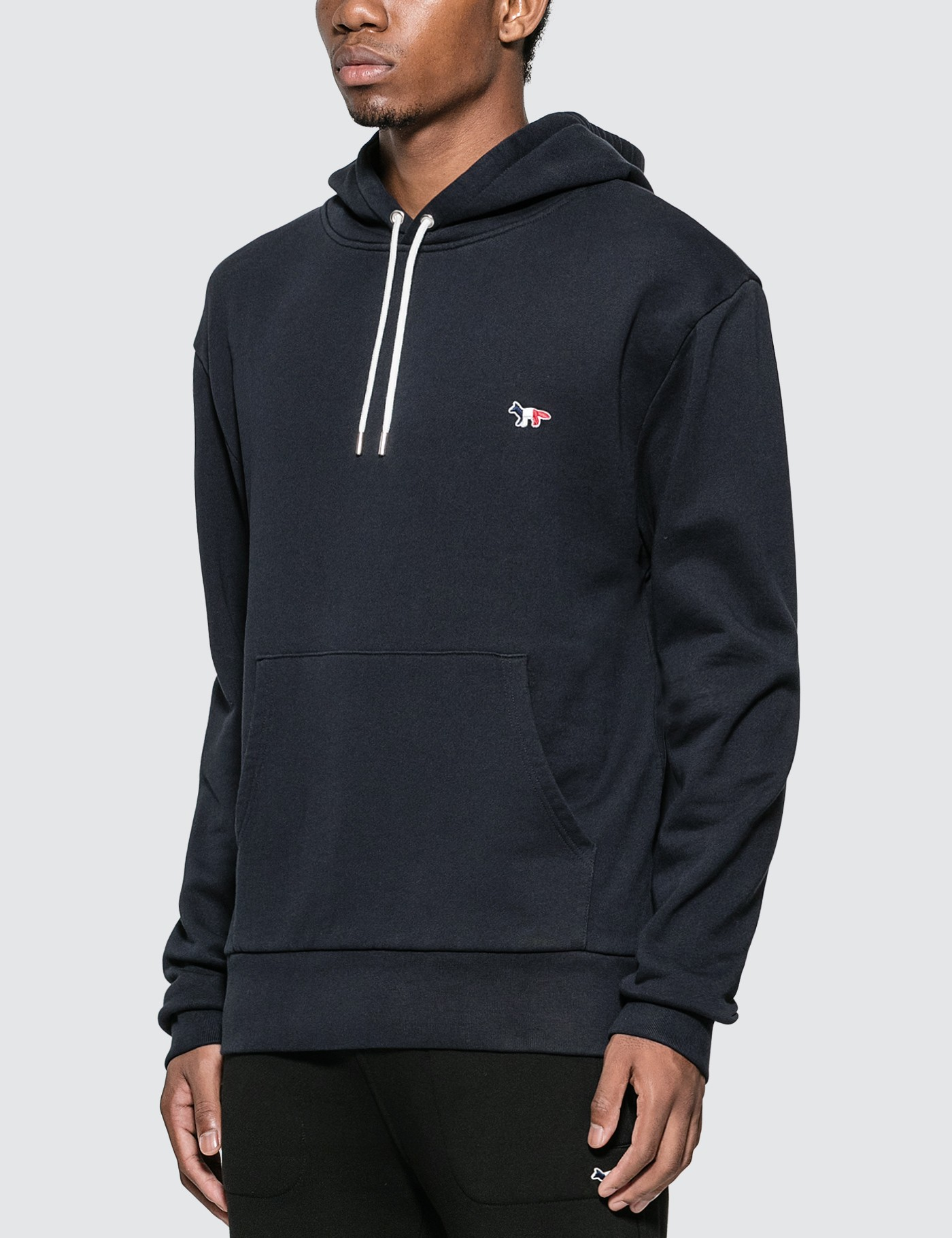 MAISON KITSUNE Tricolor Fox Patch Hoodie
