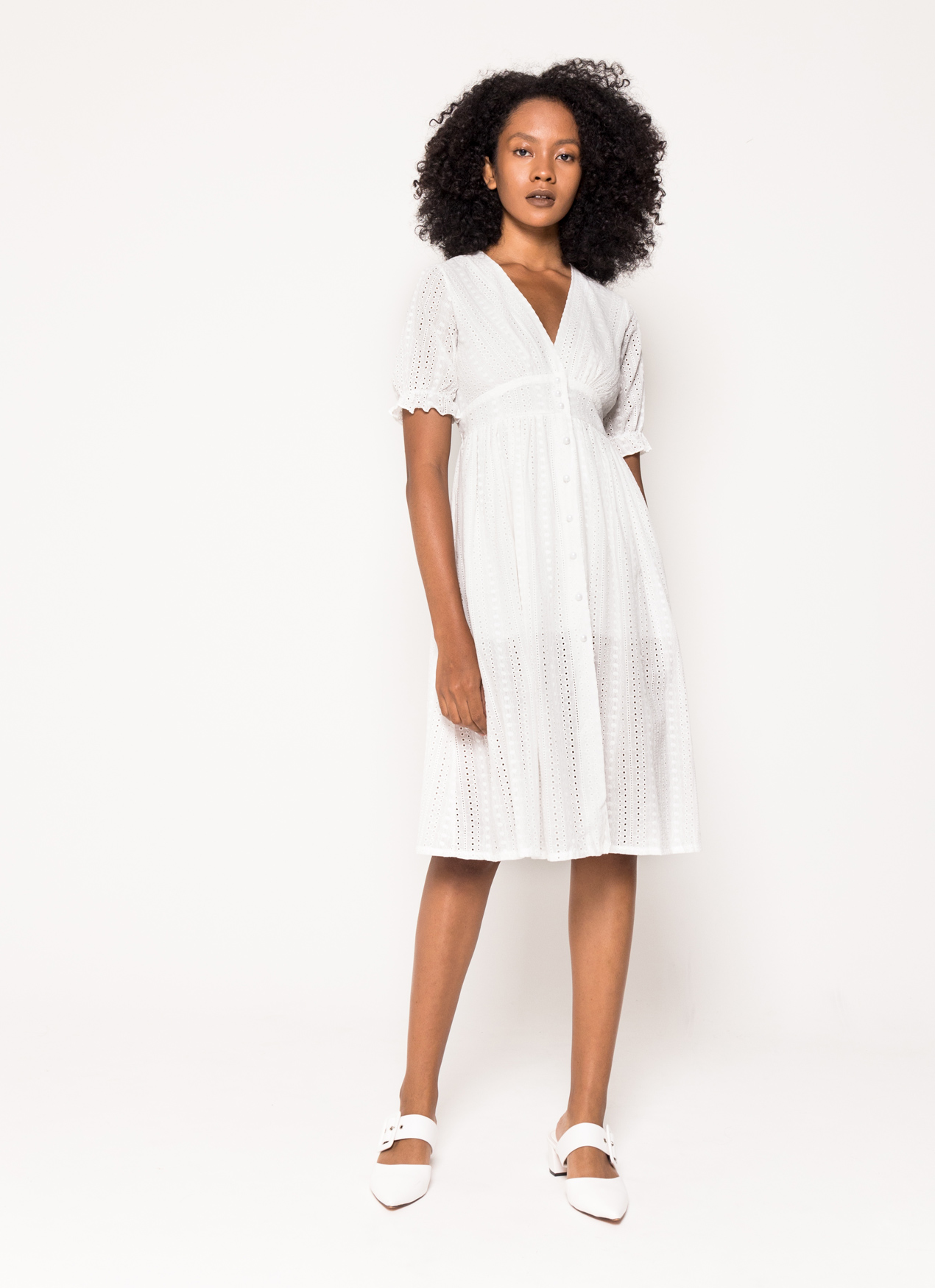 BOWN Carice Dress - White