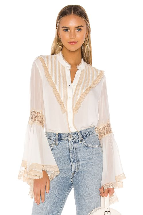 Divine Heritage Bell Sleeve Blouse