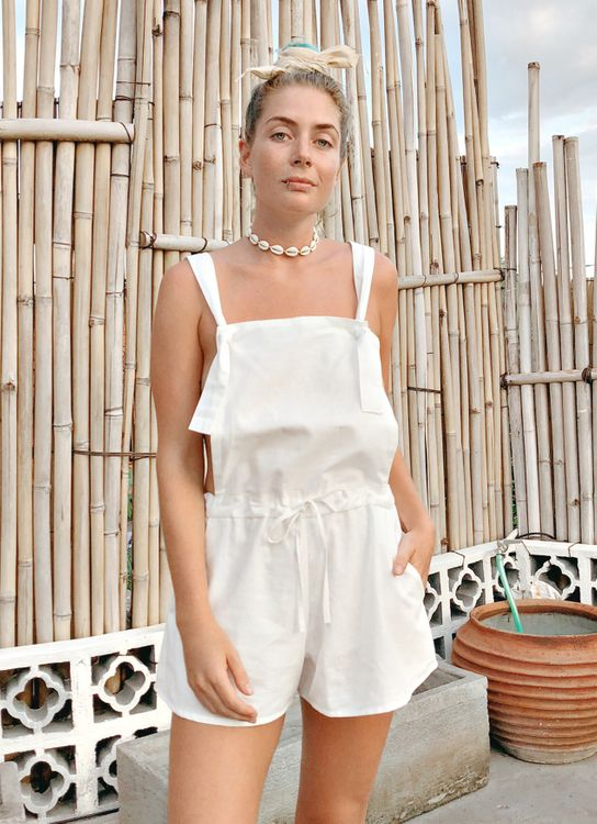 Vintage Treasure Willow Short Overall - White