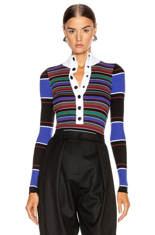 Proenza Schouler PSWL Turtleneck Striped Sweater