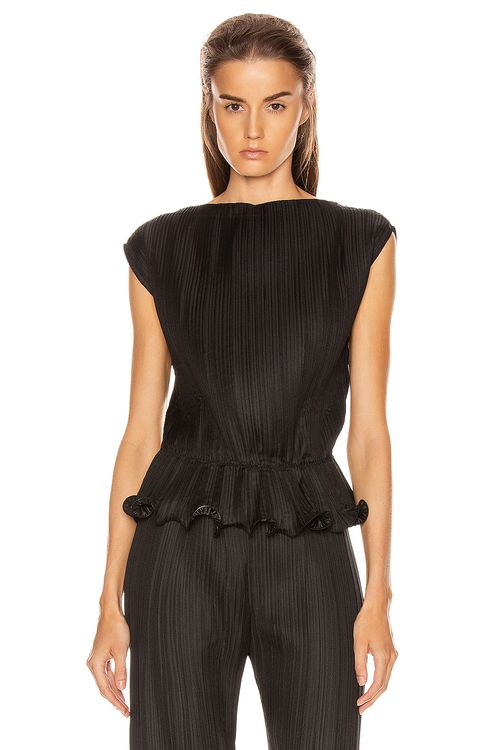 Givenchy Short Sleeve Pleated Top