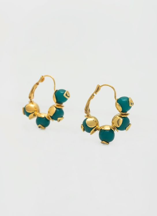 Atelier Pedra Tres Agathe Earrings - Green