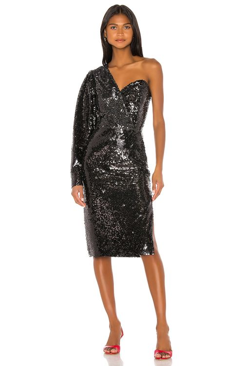 ANOUKI One Shoulder Sequin Dress