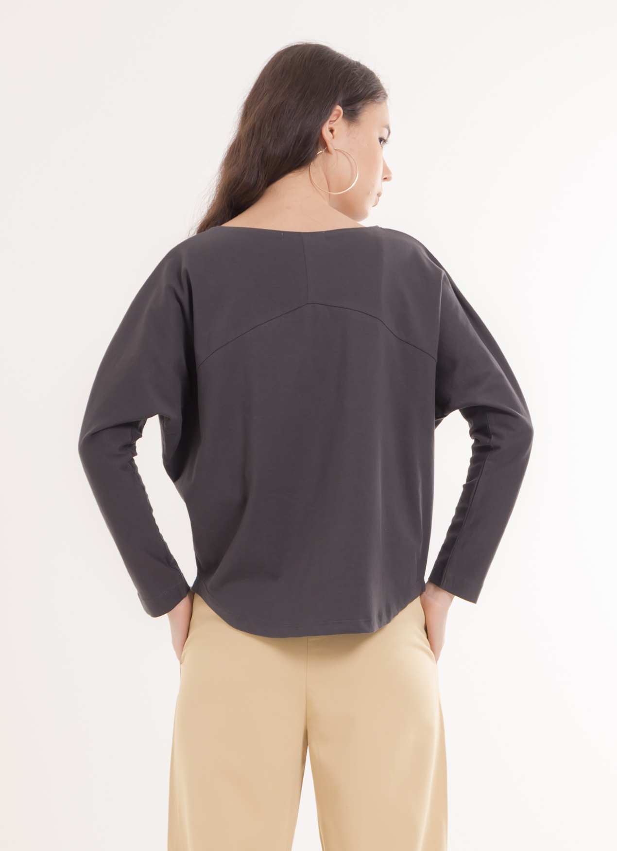 American Holic Tia Top - Charcoal Gray