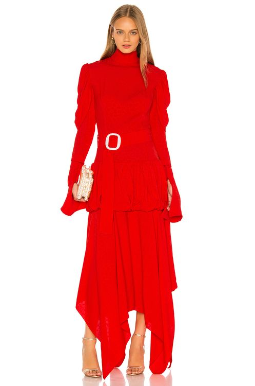 MATERIEL High Neck Belted Gown
