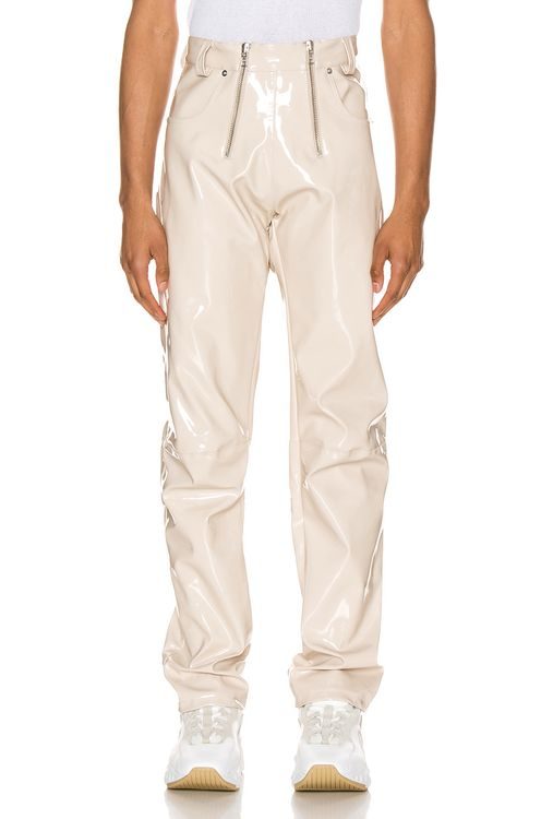 GmbH High Waisted Vinyl Trousers