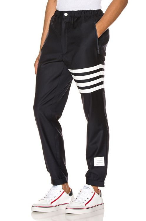 Thom Browne Snap Front Elastic Track Trouser