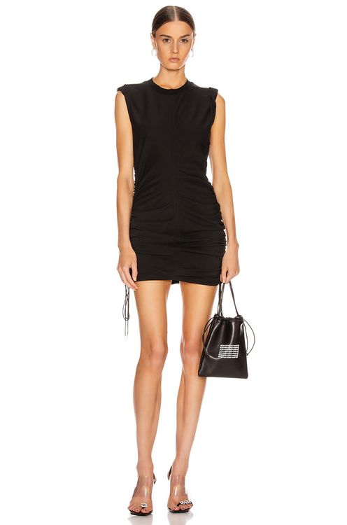 T by Alexander Wang High Twist Dress with Ties