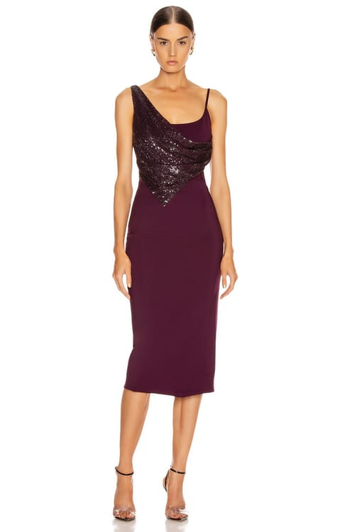 Cushnie Diamond Embellished Pencil Dress