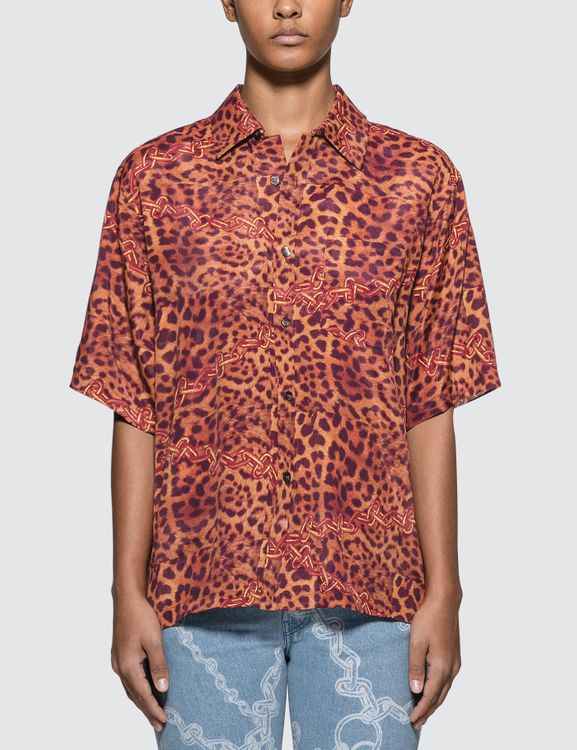 Aries Leopard Chains Hawaiian Shirt