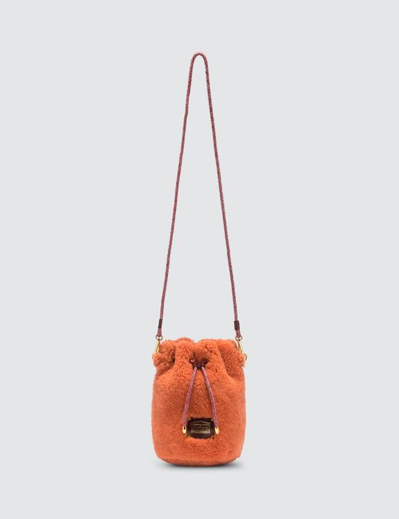 Aries Mini Drawstring Sheepskin Bag