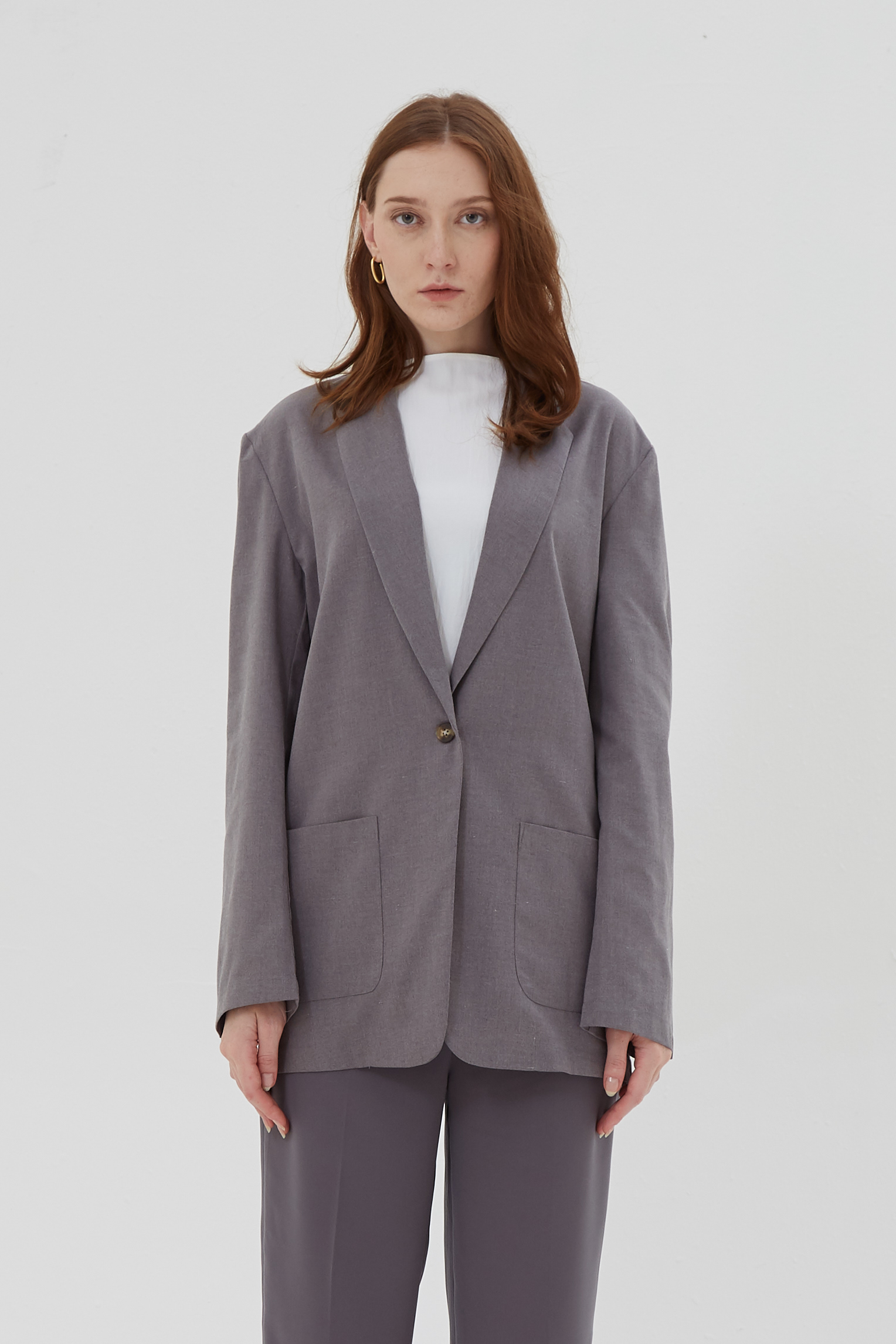 Shopatvelvet Luca Jacket Grey