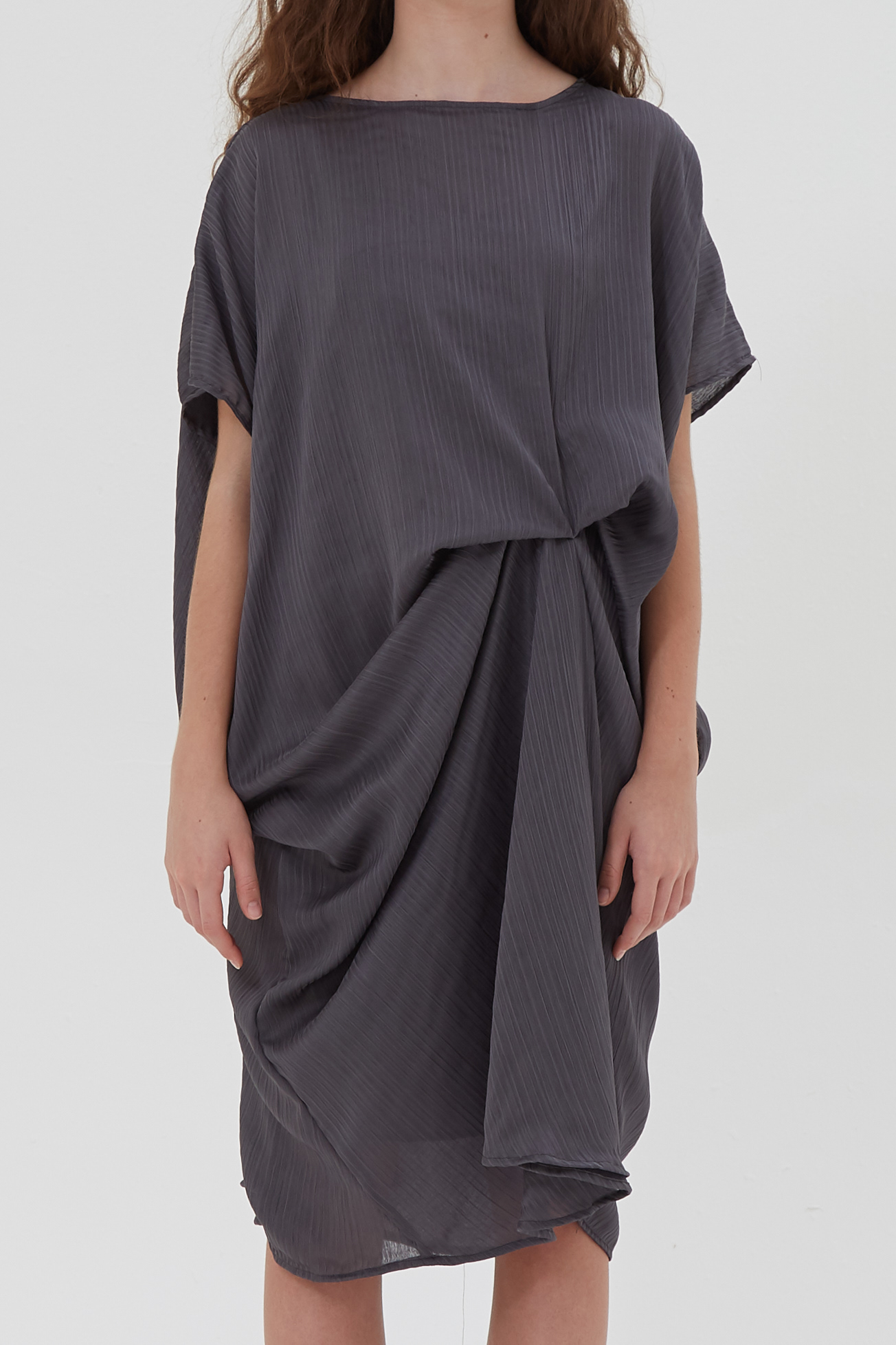 Shopatvelvet Petra Dress Stone Grey
