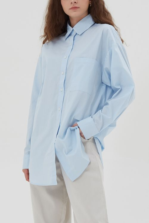 Shopatvelvet Frame Shirt Light Blue