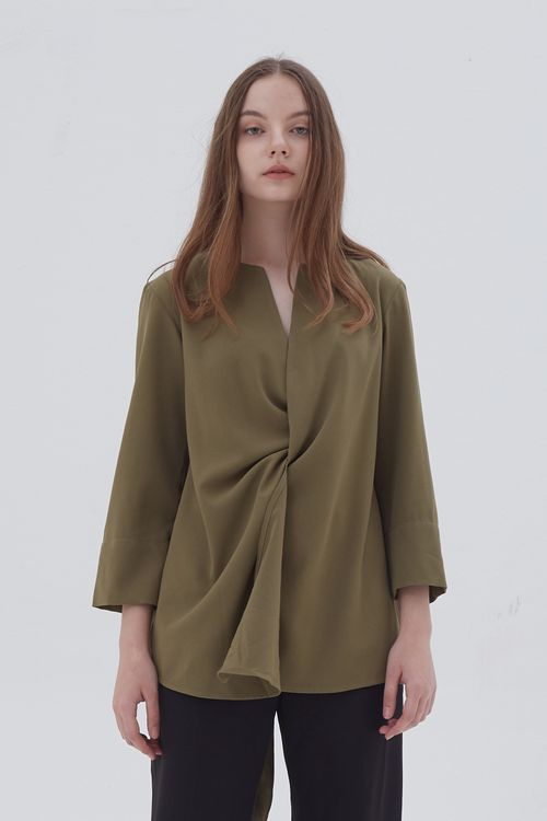 Shopatvelvet Croix Two Way Blouse Olive