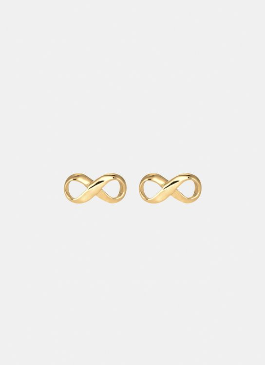Elli Germany Earring 925 Sterling Silver Gold-Plated Infinity