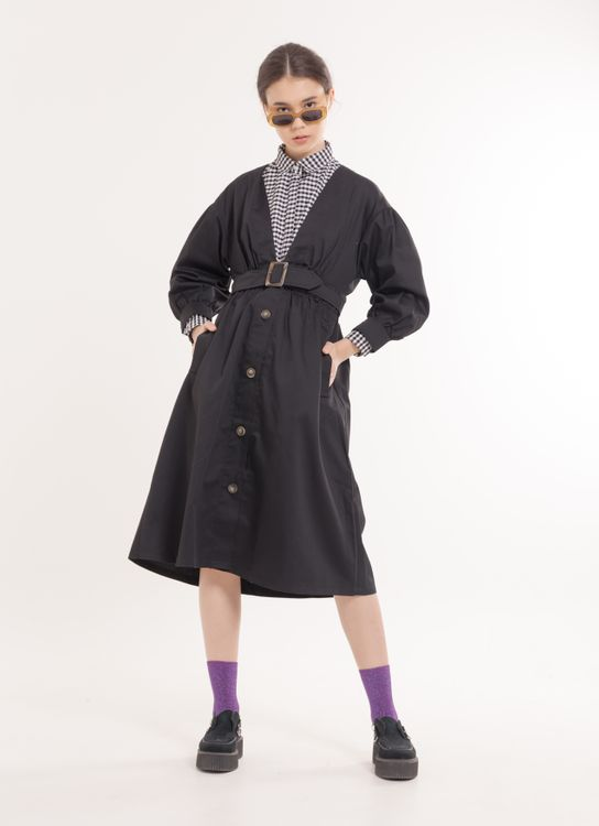 E-hyphen World Gallery Virginia Coat - Black
