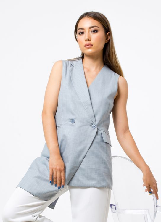 Colleen Davina Top Vest - Gray