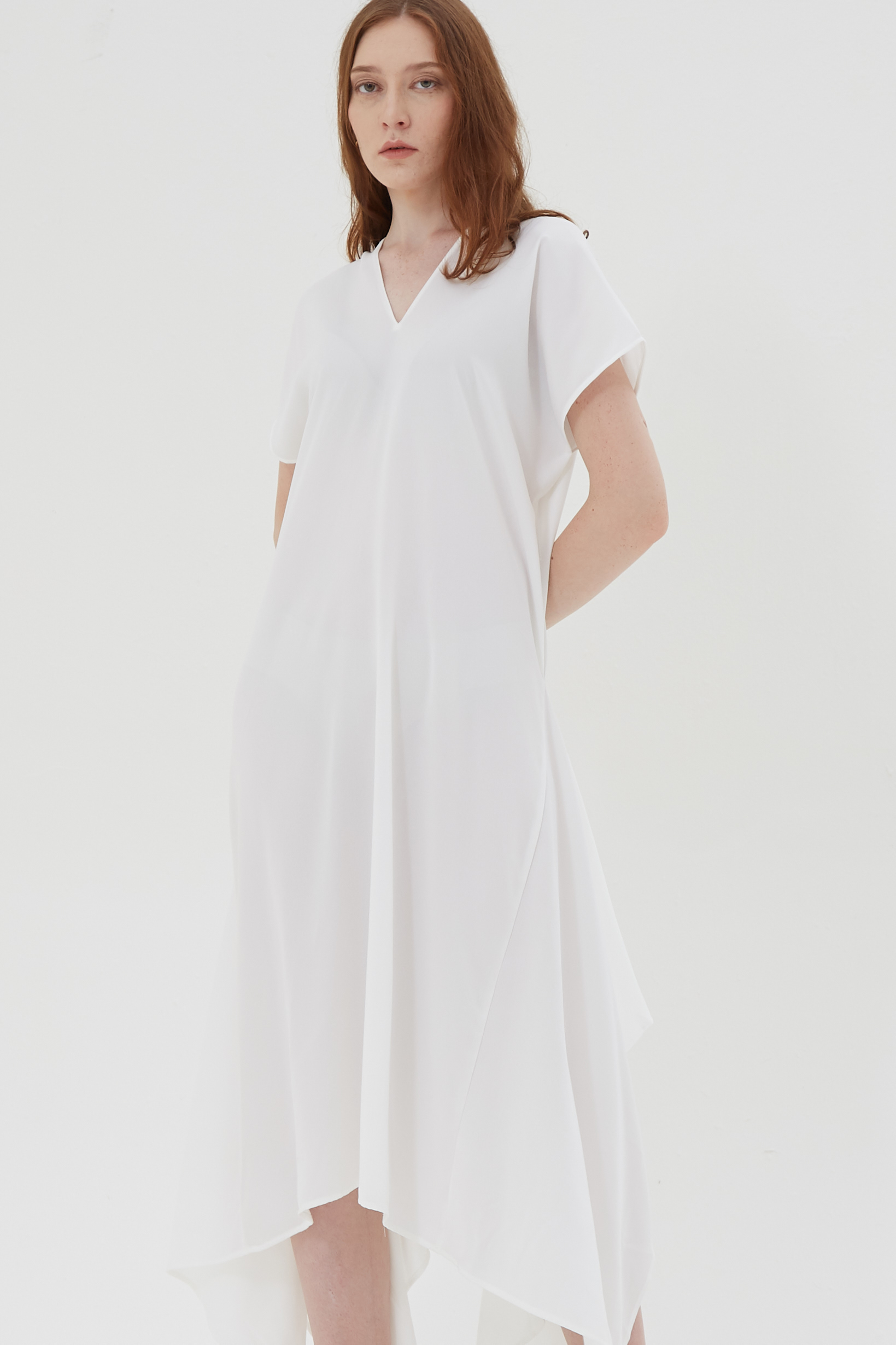Shopatvelvet Handkerchief Dress White