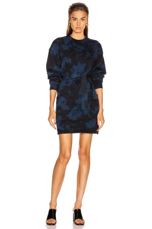 Proenza Schouler PSWL Tie Dye Sweatshirt Dress