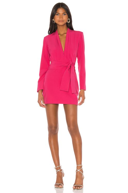 Karina Grimaldi Benjamin Solid Mini Dress