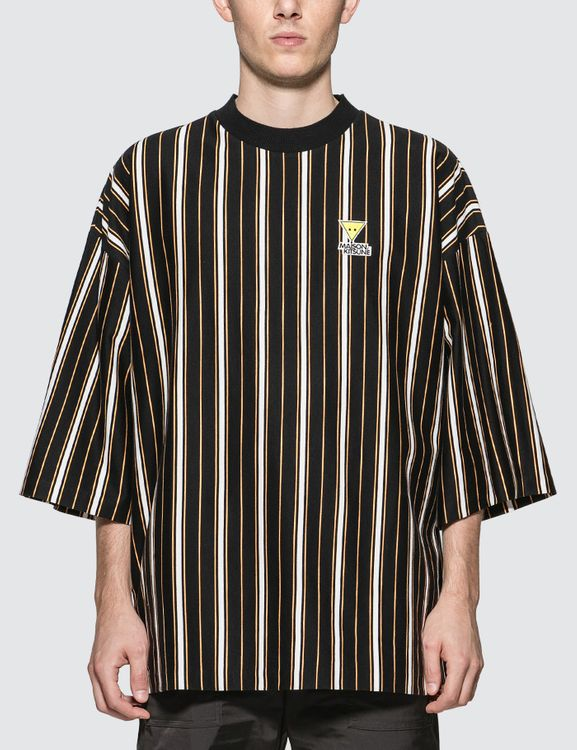 MAISON KITSUNE Stripes Oversized T-Shirt