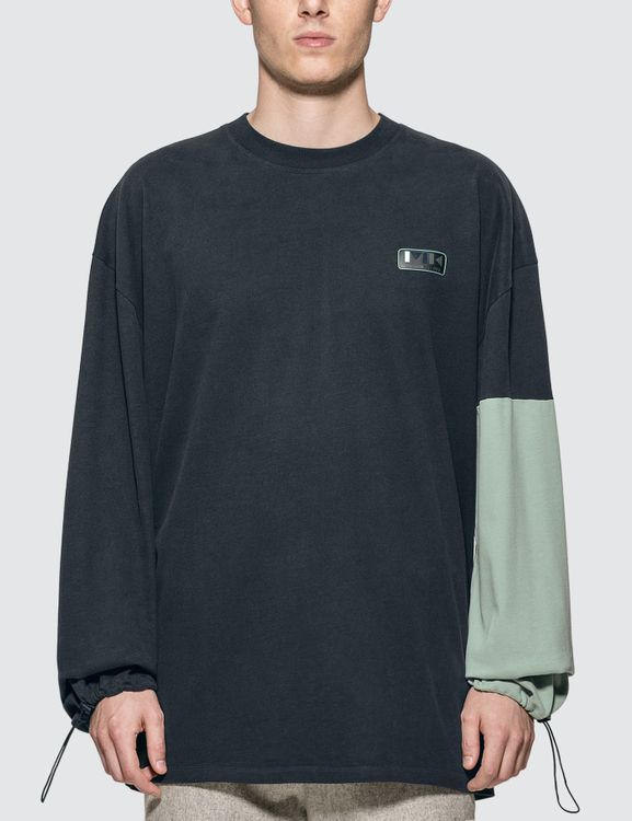 MAISON KITSUNE Colorblock Oversized Long Sleeve T-Shirt
