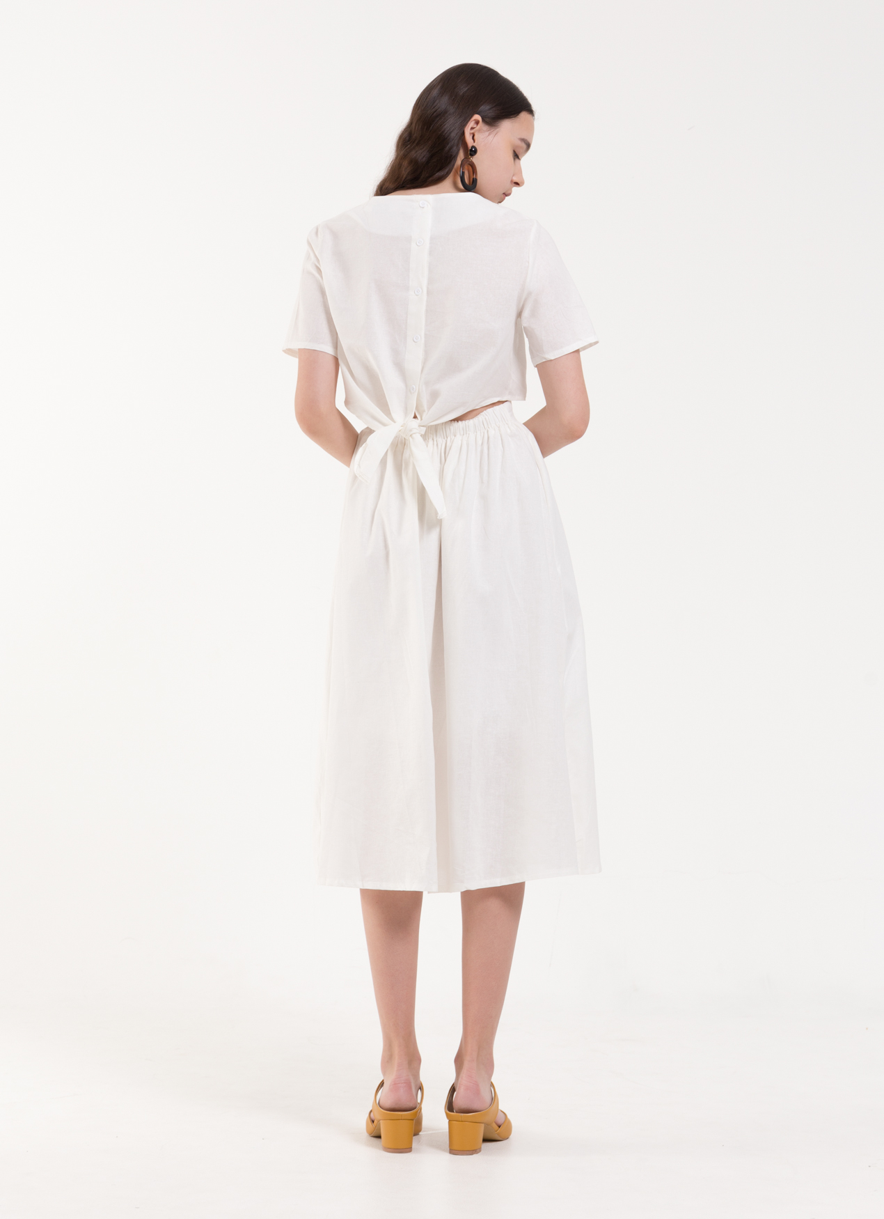 BOWN Lexi Dress - White